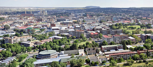 Bloemfontein, in the Free State, South Africa